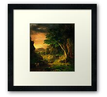 George Inness In the Berkshires Framed Print