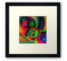 Multi-coloured abstract circles Framed Print