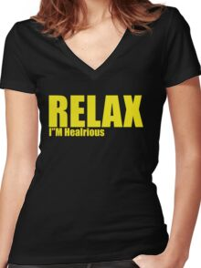 I'M hilarious Women's Fitted V-Neck T-Shirt