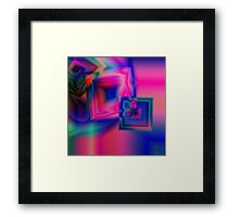 Multi-coloured abstract squares Framed Print
