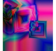 Multi-coloured abstract squares Photographic Print