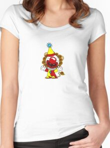 Clown Lion Women's Fitted Scoop T-Shirt