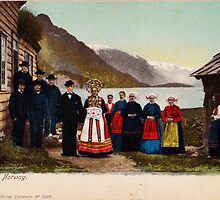 Hardanger wedding postcard by Adam Asar