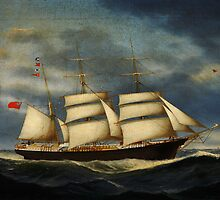 Heinrich Andreas Sophus Petersen The barque Annie Burrill by Adam Asar