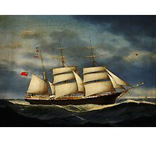 Heinrich Andreas Sophus Petersen The barque Annie Burrill Photographic Print