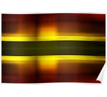 Orange and yellow blur stripes Poster