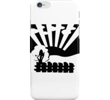black and white landscape iPhone Case/Skin
