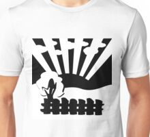 black and white landscape Unisex T-Shirt