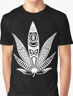 white psychedelic ganja  Graphic T-Shirt