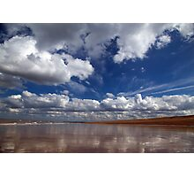 Reflection on a beach Photographic Print