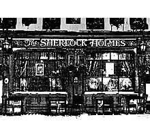 The Sherlock Holmes Pub Art Photographic Print