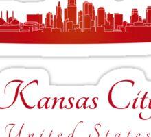 Kansas City skyline in red Sticker