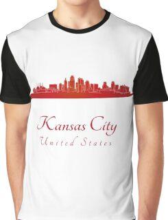 Kansas City skyline in red Graphic T-Shirt