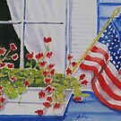 Patriotic window by Anne Thigpen