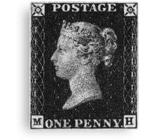 Penny Black Greyscale Canvas Print