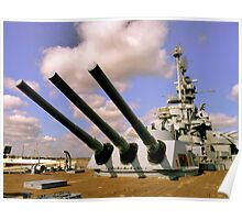 USS Alabama, Mobile Poster