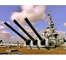 USS Alabama, Mobile Photographic Print