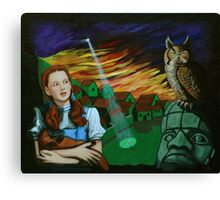 One of Dorothy's Numerous Trips Over the Rainbow Canvas Print