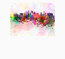 Kansas City skyline in watercolor background T-Shirt