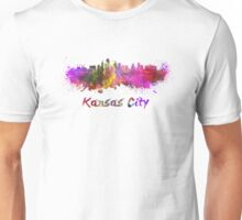 Kansas City skyline in watercolor Unisex T-Shirt
