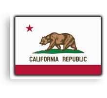 Californian Flag, Flag of California, California Republic, America, The Bear Flag, State flags of America, American, USA Canvas Print