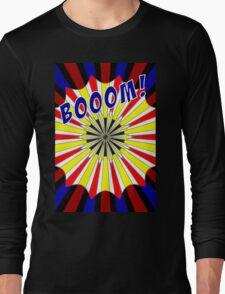 Pop art meets Mondrian explosion Long Sleeve T-Shirt
