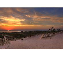 Sunset on Sleeping Bear Dunes Photographic Print