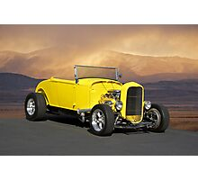 1932 Yellow Roadster Photographic Print