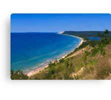 Sleeping Bear Dunes from Empire Bluff Canvas Print