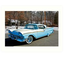 1957 Ford Fairlane Skyliner Art Print