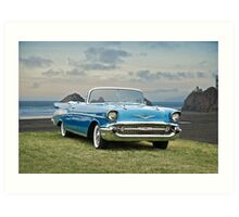 1957 Chevrolet Bel Air Convertible Art Print