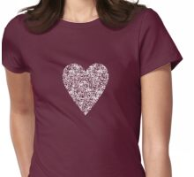 QR Love (small) Womens Fitted T-Shirt
