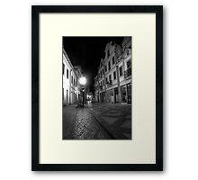 Aveiro by night in B&W (HDR) Framed Print