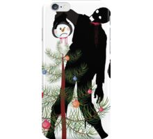 Funny Zombies decorating Christmas tree iPhone Case/Skin