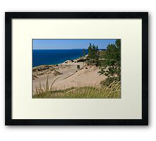 Sleeping Bear Dunes and South Manitou Island Framed Print
