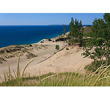 Sleeping Bear Dunes and South Manitou Island Photographic Print