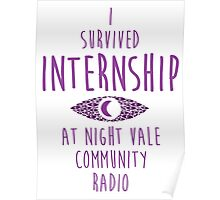"""I survived Internship!""  Poster"