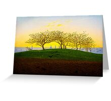 Hill and Ploughed Field near Dresden by Caspar David Friedrich Greeting Card