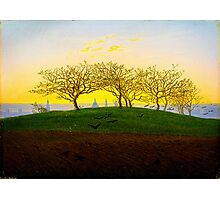 Hill and Ploughed Field near Dresden by Caspar David Friedrich Photographic Print