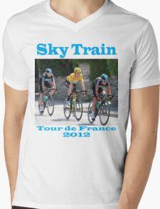 Wiggins Sky Train - Tour de France 2012 Mens V-Neck T-Shirt