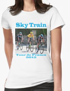 Wiggins Sky Train - Tour de France 2012 Womens Fitted T-Shirt