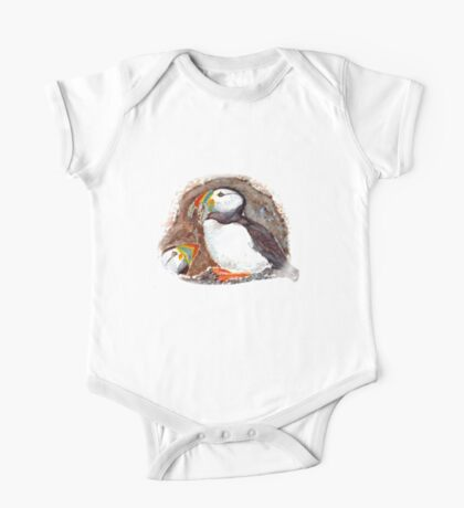 PUFFINS ART/TEES/STICKERS One Piece - Short Sleeve