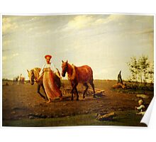 in the ploughed field spring Poster