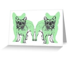 Theo the Frenchie Greeting Card