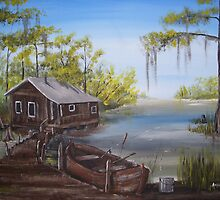 Our Fishin' camp   by Anne Guimond