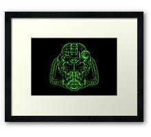 Power Wireframe Green Framed Print