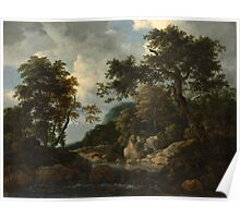 Jacob van Ruisdael    The Forest Stream (c. 1660) Poster