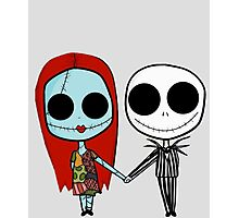 Jack and Sandy - The Nightmare Before Christmas Photographic Print