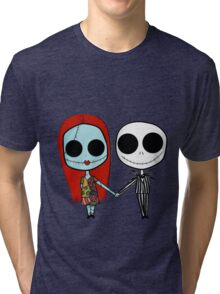 Jack and Sandy - The Nightmare Before Christmas Tri-blend T-Shirt