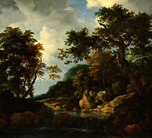 Jacob van Ruisdael  The Forest Stream by Adam Asar